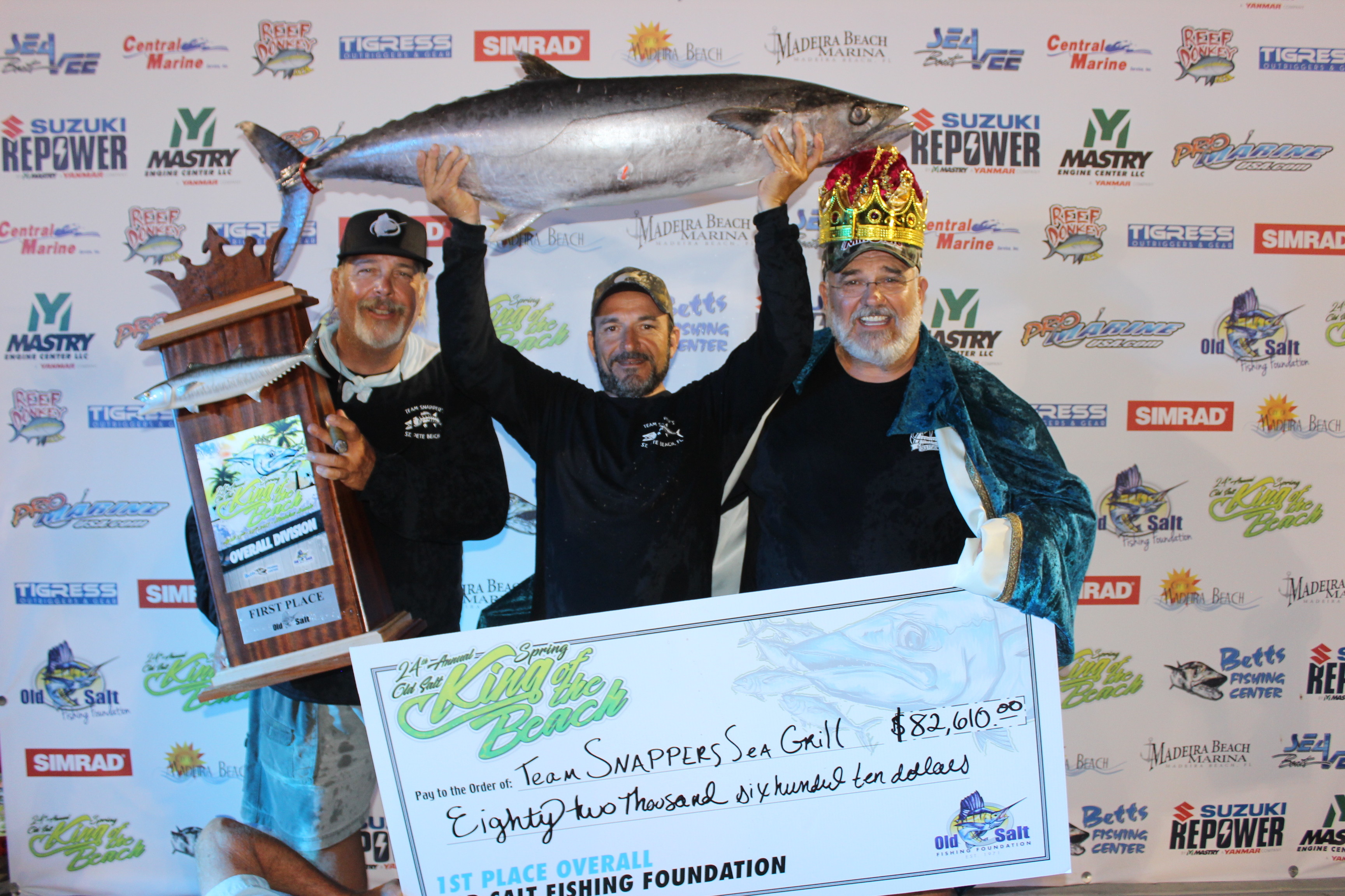 Team Snappers Sea Grill wins the King of the Beach Kingfish Tournament
