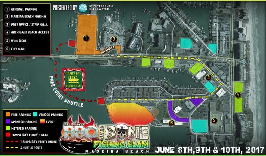 Baddest BBQ on the Bone Event Parking Map