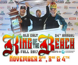 Old Salt Fall king of the BEach Kingfish Tournament