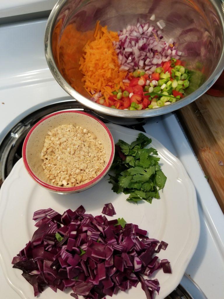 Thai Coconut Cashew Rice Salad Ingredients