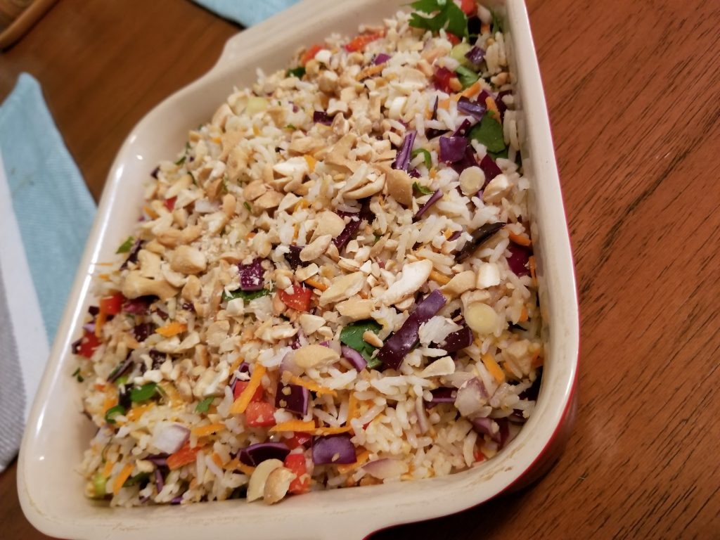 Thai Coconut Cashew Rice Salad