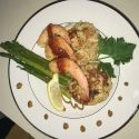 Simple Crab Cake & Shrimp Dinner