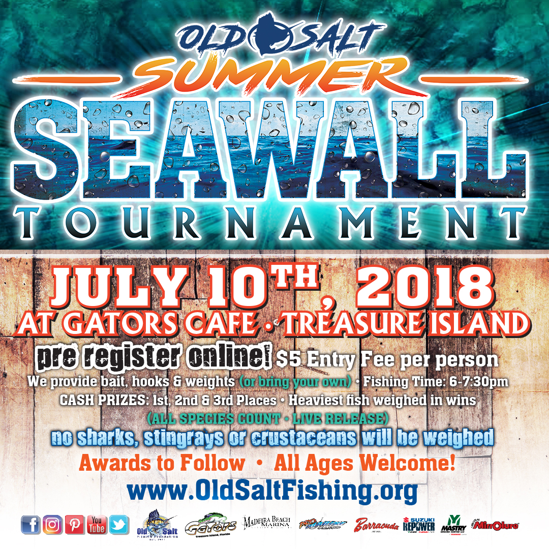 Fish The Old Salt Summer Seawall Fishing Tournament