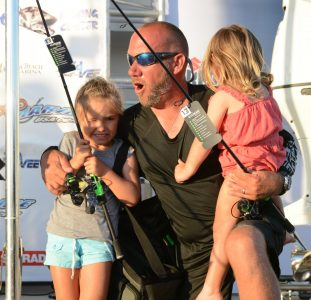 Youth anglers at the old salt king of the beach fishing tournament