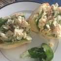 Florida Lobster Roll with a Key Lime Avocado Aioli