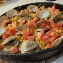 Seafood Paella with Clams and Grouper