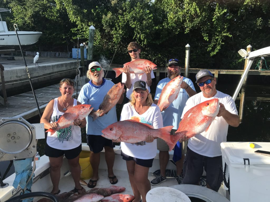 Old Salt Crew with American Red Snapper