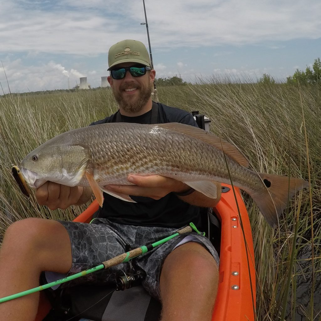 Youl be pushing through tall grass when Nature Coast kayak fishing